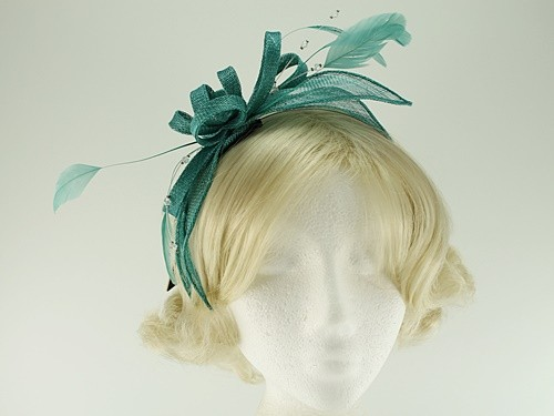 Fascinators 4 Weddings - Failsworth Millinery Sinamay Fascinator in ... d8ba0b843ae