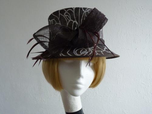Wedding hat Brown animal print