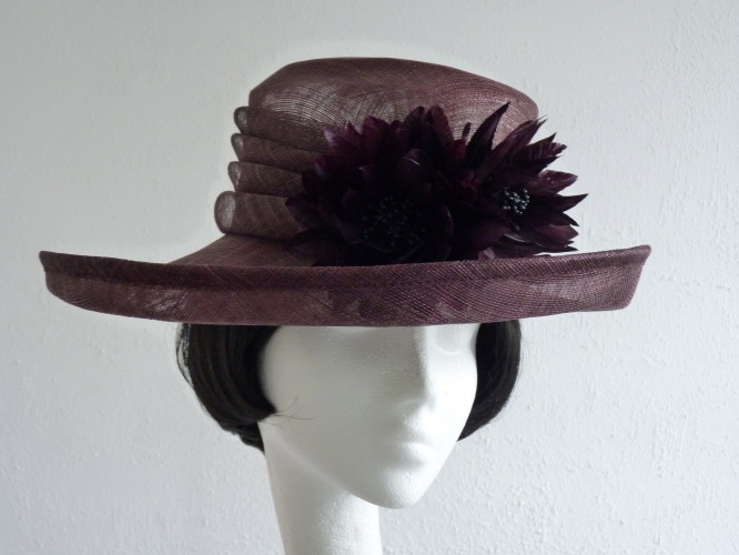 Wedding hat Brown