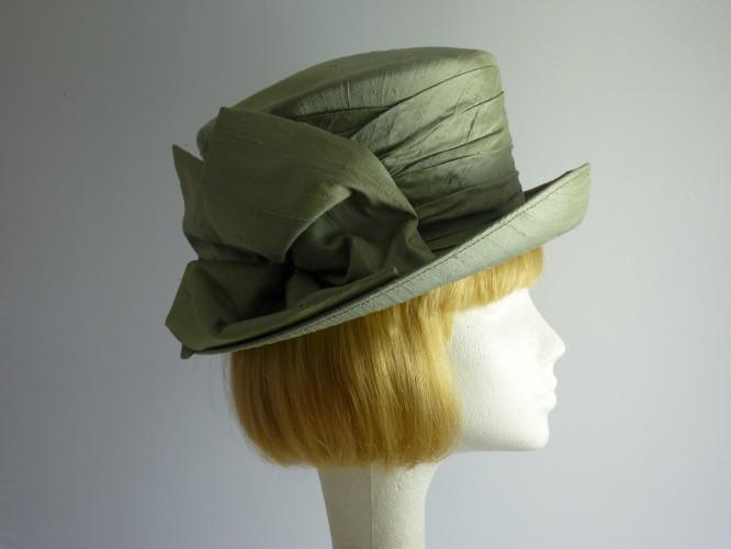 Mitzi Lorenz Ascot hat Green Silk