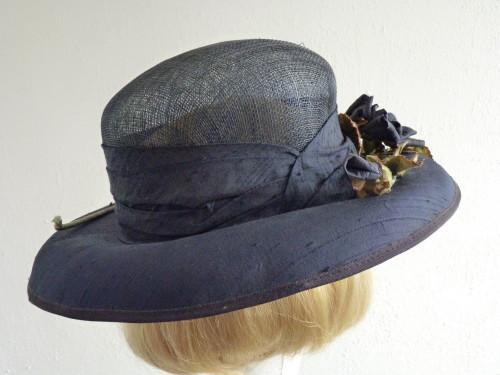 Wedding hat Navy antique roses