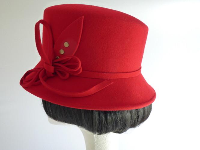 Ascot hat Red Felt