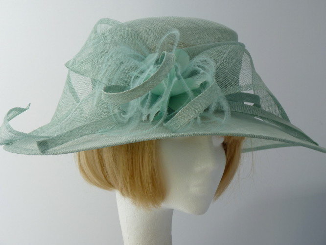 Wedding Hats 4U - Failsworth Millinery Ascot hat Mint Green in Turquoise bb68a187624