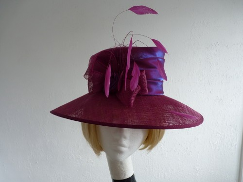Jaqueline Meszaros Ascot hat Wine Purple