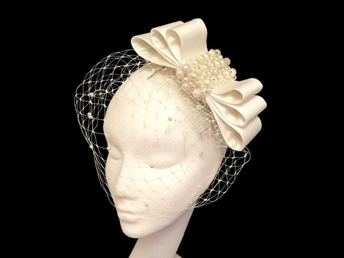 Ashleigh Myles Millinery Three Layer Bridal Bow