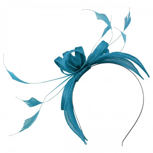 Failsworth Millinery Sinamay Fascinator in Azure