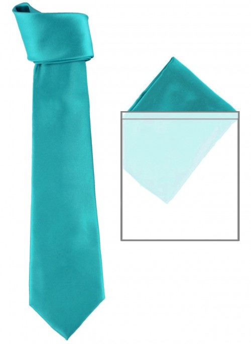Max and Ellie Mens Tie and Pocket Square Set in Azure