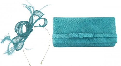 Max and Ellie Sinamay Fascinator in Azure