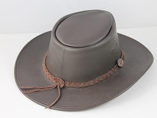 B.E. Hats Brown Australian Leather Hat