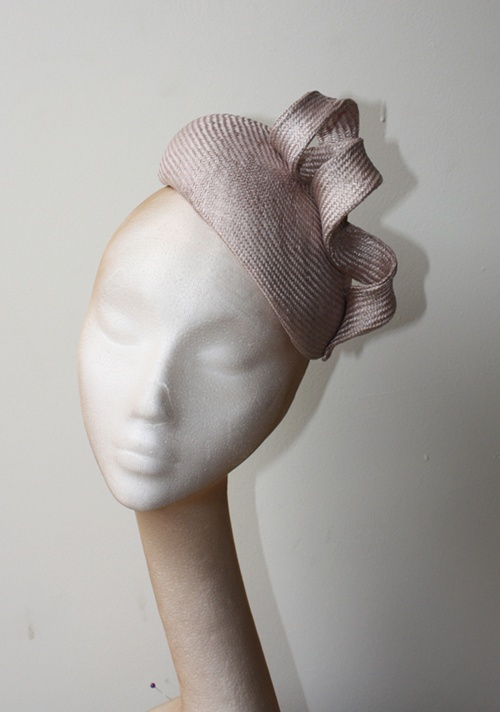 Couture by Beth Hirst Taupe Straw Twist French Beret