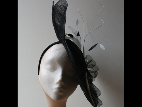 Couture by Beth Hirst Black Petal Saucer with quills