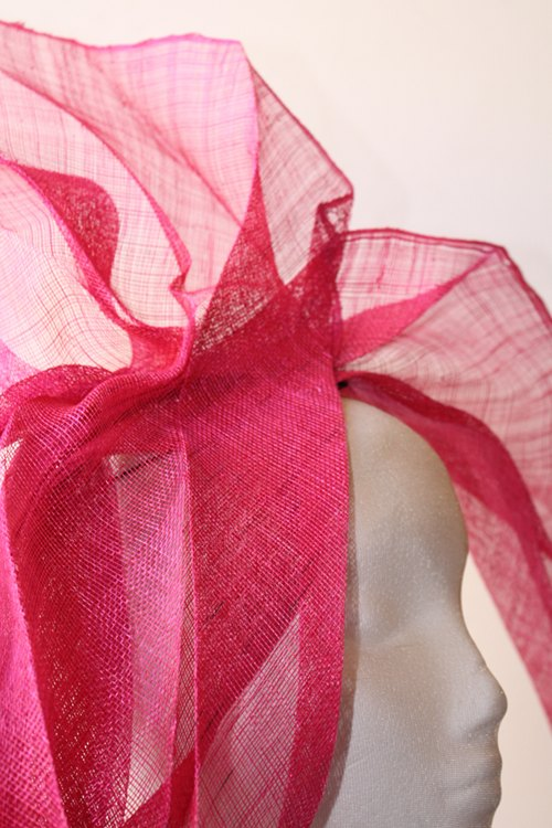 Couture by Beth Hirst Pink Pleated One Sided Bow