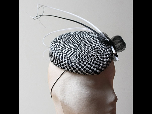 Couture by Beth Hirst Black and Ivory Checked Percher