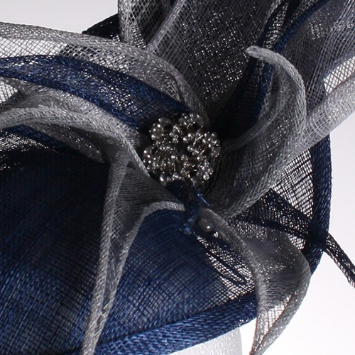 Couture by Beth Hirst Blue Spiky Fascinator