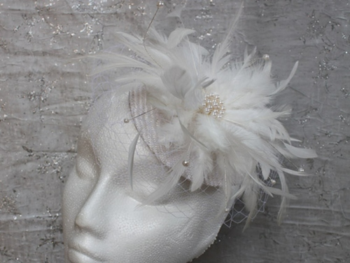 Couture by Beth Hirst Feather and Pearl Button