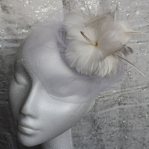 Couture by Beth Hirst Feather Flower Button