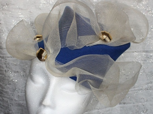 Couture by Beth Hirst Blue Felt Topper