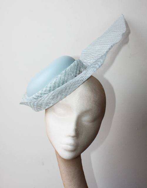 Couture by Beth Hirst Baby Blue Fascinator