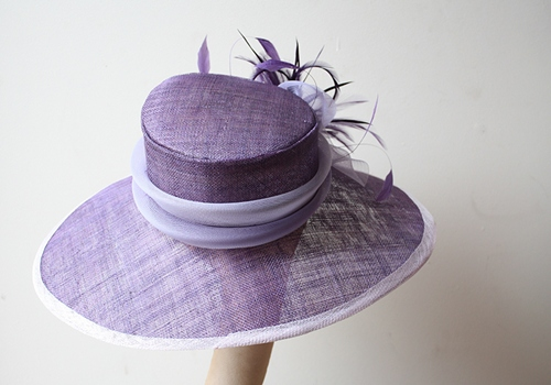 Couture by Beth Hirst Lilac and Purple Rounded Brim Hat