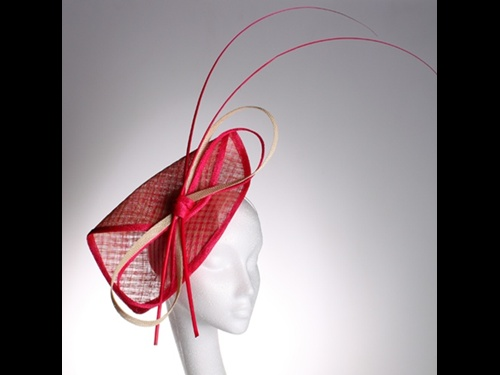 Couture by Beth Hirst Pink Fascinator with Quills