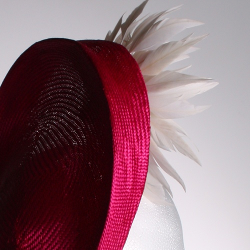 Couture by Beth Hirst Pink Straw Fascinator