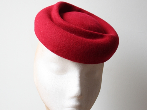 Couture by Beth Hirst Poppy Red Swirl Beret
