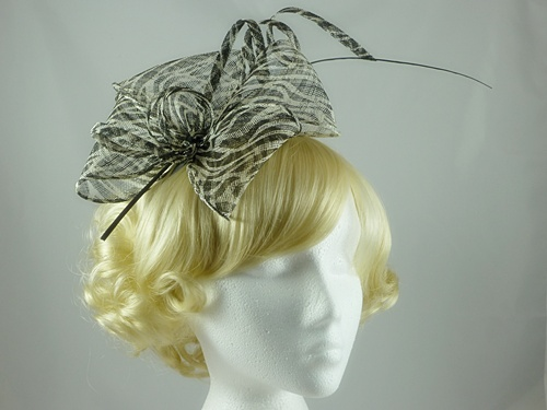 Black and White Tilly Fascinator
