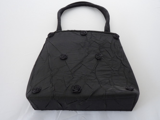 Bag Black with Roses