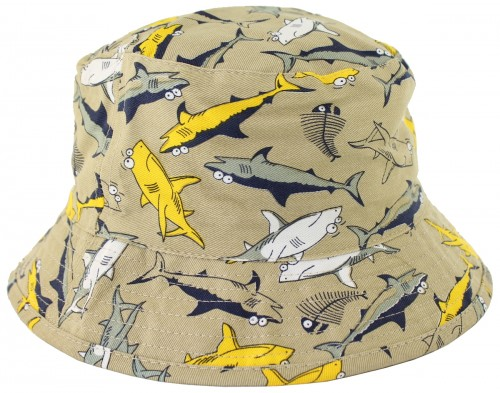 Jiglz Shark Cotton Sun Hat