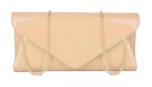 Papaya Fashion Patent Envelope Style Bag
