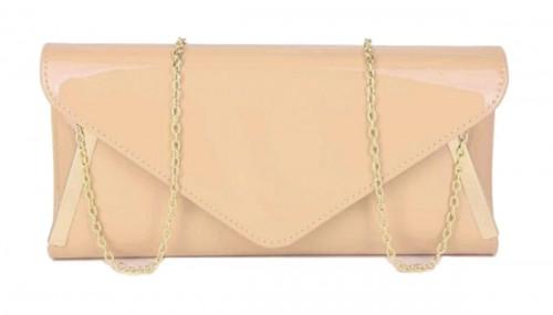 Papaya Fashion Patent Envelope Style Bag