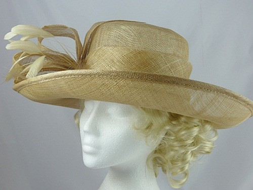 Beige Wedding Hat