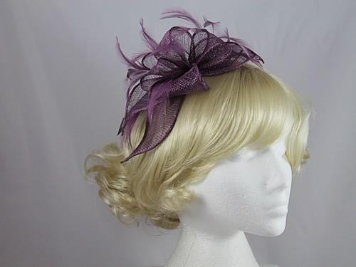 Wedding Hats 4U - Failsworth Millinery Fascinator in Berry - 6687 81d6a0b2753
