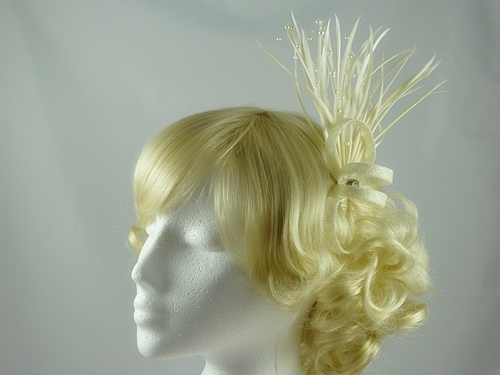 Rara Avis Millinery Sinamay Loops and Biots Fascinator