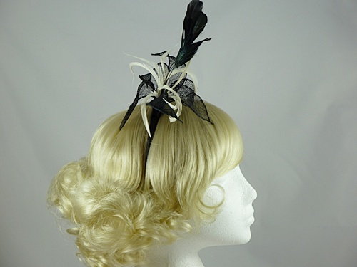 Two Tone Leaf Fascinator