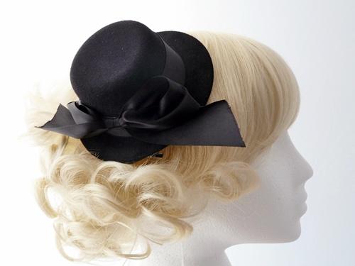 Wedding Hats 4U - Black Mini Top Hat Fascinator ef38c82f814