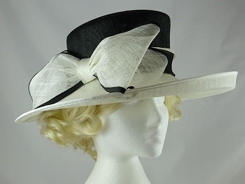 Wedding Hats 4U - Hawkins Collection Large Bow Wedding Hat in Black ... eed4eb045c7b