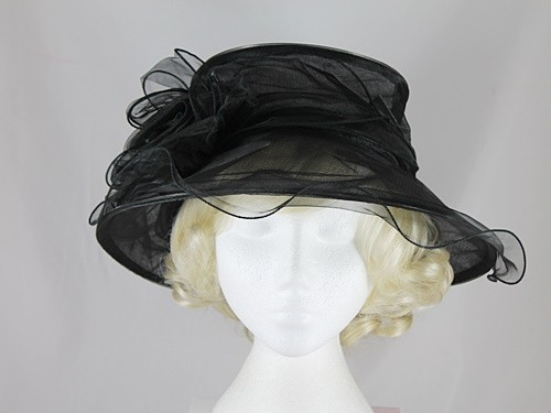 Elegance Collection Organza Wedding Hat