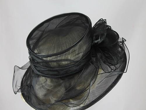 Elegance Collection Organza Wedding Hat