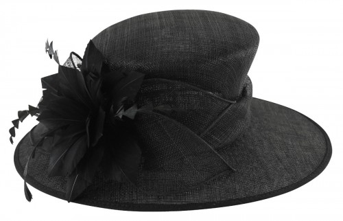 Failsworth Millinery Occasion Hat in Black