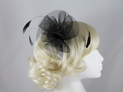 Failsworth Millinery Organza and Feathers Fascinator