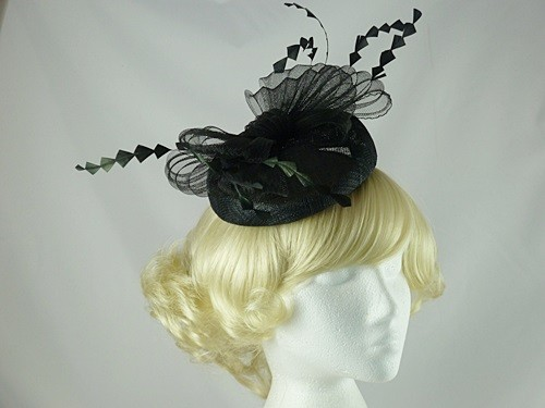 Failsworth Millinery Sinamay and Crin Pillbox