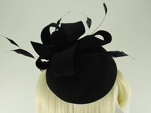 Failsworth Millinery Wool Felt Flower Pillbox