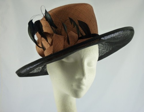 Jacques Vert Ascot hat Browm and Black