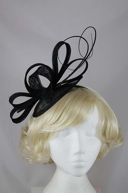 9c571f4701cc Ascot Hats 4U - Molly and Rose Loops and Quills Headpiece in Black