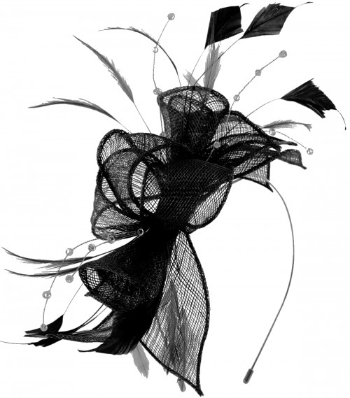Max and Ellie Diamante Fascinator in Black