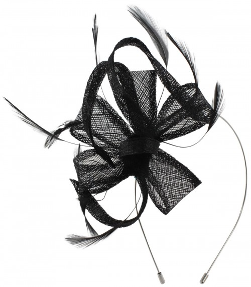 Max and Ellie Flower Fascinator in Black