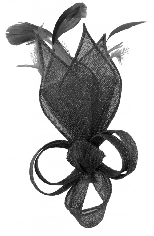 Fascinators 4 Weddings - Max and Ellie Lily Comb Fascinator in Black ... efe8d96b604