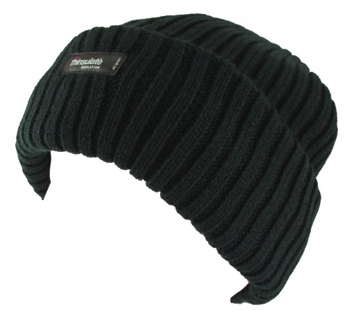 5ef9f684107 Thinsulate Beanie Chunky Ski Hat in Black