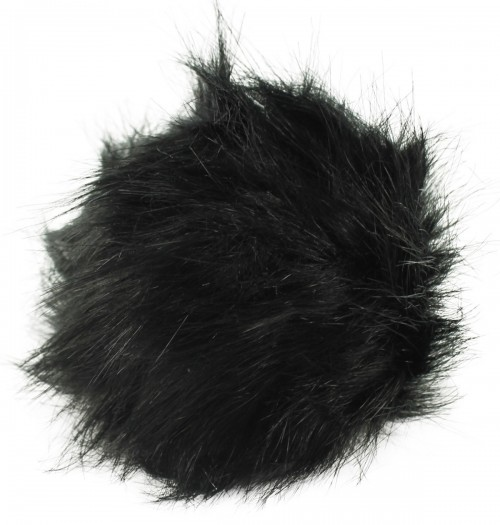 Zelly Detachable Bobble Pom Pom in Black